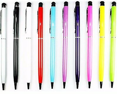 2X 2-in-1 Touch Screen Ballpoint Pen Stylus For iPad iPhone Tablet Smartphone PC