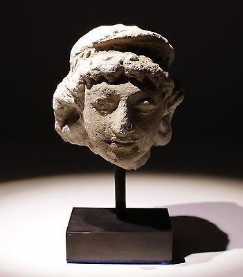 Ancient Gandharan Terracotta Head - 1St Millenium Ad    Oo68