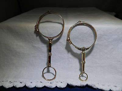 Antique lorgnette 2(x two) folding glasses opera; French; 19th Century