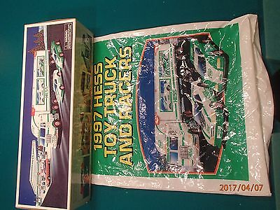 1997 Hess Truck and Toy Racers  NIB