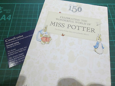 The Beatrix Potter 50p Coin Collector Album from the ROYAL MINT