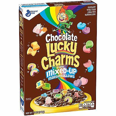 Chocolate Lucky Charms With Mixed Marshmallows Cereal American Candy Sweet USA