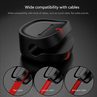 Baseus Magnetic Cable Clips Cable Holder Desktop Cable Clip Cord Wire Management
