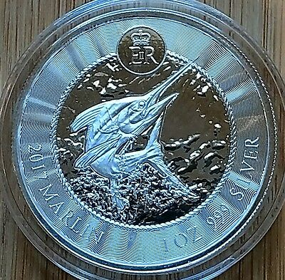 2017 Cayman Islands MARLIN 1 oz. .999 Pure Silver in Mint Capsule