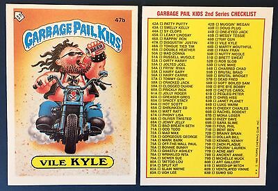 Vile Kyle 47b ~ Garbage Pail Kids UK Series 2 (1986) MINT Condition ~ Rare