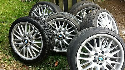 bmw mv1 alloy wheels staggered set of 4 + 2 extra front wheels