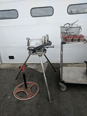 Ridgid 300 Power Pipe Threader w/ TriStand Dies, Oiler and Pipe Stand