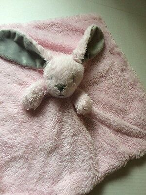 Blankets & Beyond Pink Bunny Rabbit Gray Ears Lovey Security Blanket Plush