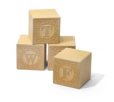 Uncle Goose Alpha-blank Uppercase Wood Blocks - Made in USA