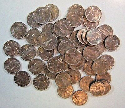1966 Ireland 3 Pence, Lot of 50 Coins, Choice Mint Cond. ** FREE U.S SHIPPING **