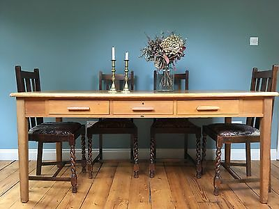 Antique/ Vintage Wooden Dining/ Kitchen Table or Large Desk - Abbess brand