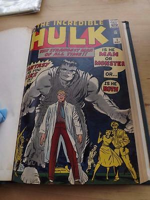 Hulk #s 1-6 Silver Age Bound Volume Very High Grade Signed By Jack Kirby !