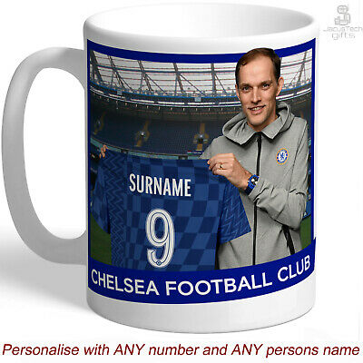 CHELSEA FC Mug, PERSONALISED. Conte, Your Name. Gift For Chelsea Fan, Supporter