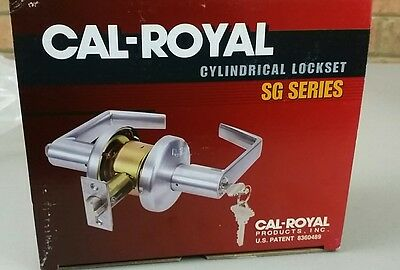 Cal-Royal SG20 Commercial Duty Privacy Lock Satin Chrome
