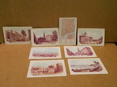 8 Antique Paper Ink Blotters -  Scenes of New York City & Map