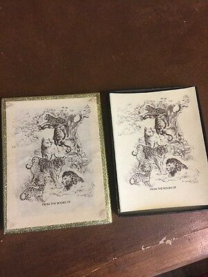 Vintage Big Cats Antioch Bookplate Book Library Supplies Plates