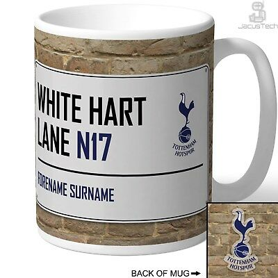 PERSONALISED Tottenham Mug. White Hart Lane Sign. Gift For TOTTENHAM Spurs Fan.