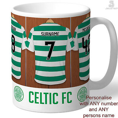 PERSONALISED Celtic Mug. Shirt Name Gift Idea For CELTIC FC Fan, Supporter Lover