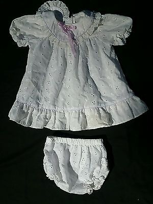 Vintage 1970s baby girl summer wedding party dress lot 6 to 9 mo toddler 2 pc
