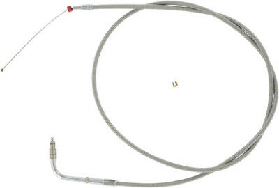 Barnett Stainless Clear-Coated Idle Cable (+4in.) HARLEY-DAVIDSON XL1200C etc