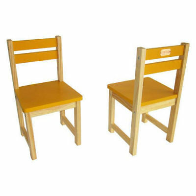 Childrens Chairs | Set of 2 Kids Chairs Yellow | STOCK CLEARANCE