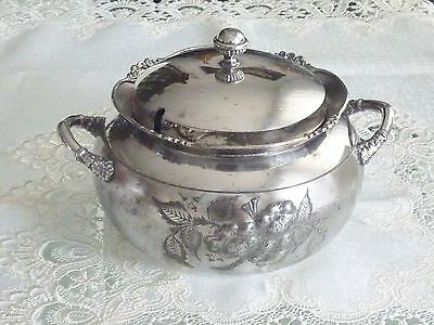 Antique Quadruple Plate Silver Casserole Dish By Knickerbocker Usa C 1890's
