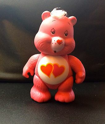 Vintage 1984 Care Bears Love-A-Lot Poseable Figure Mint