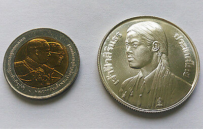 Thailand 150Baht 1977AD BU and 10Baht 2002