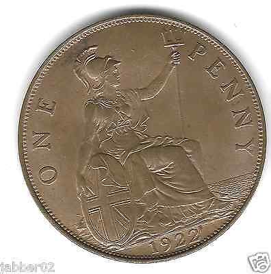 1922 Penny Uncirculated Unc Luster