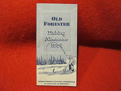 VINTAGE 1954 Old Forester Fishing Almanac Booklet Brown Forman Louisville KY