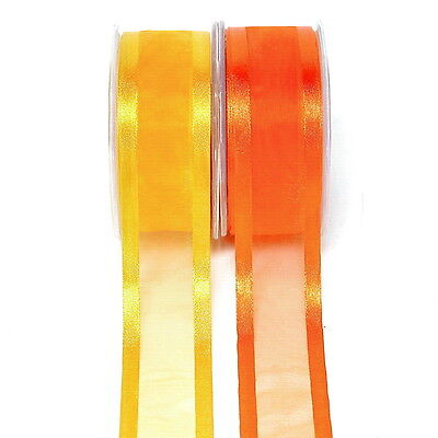 Organza Band with Satin Edge 38mm wide/ 25 Metres