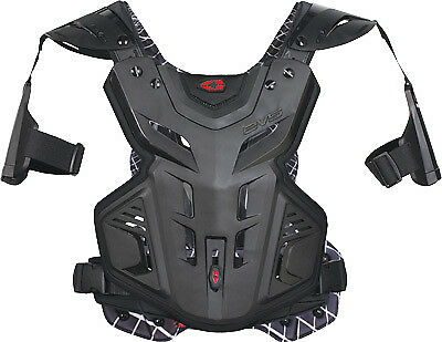 EVS F2 Modular Black MX Offroad Motocross Motorcycle Chest Roost Protector Youth