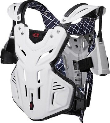 EVS Adult MX ATV F2 Chest Roost Guard Protector M-XL White Medium F2WH-M 72-4009