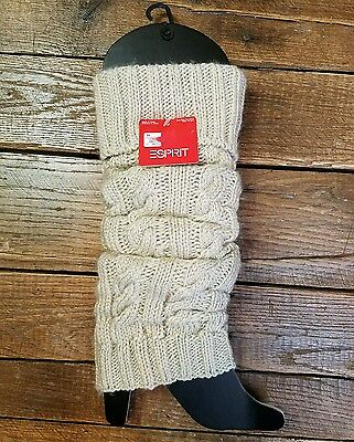 ESPRIT Knit Cream & Sparkles Leg Wear Warmers Boot Toppers One Size (Drawer1)