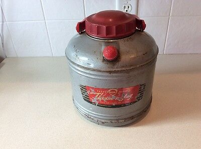 Vintage Therm A Jug Knapp Km Monarch 1 Gal Insulated Themos Cooler Hot & Cold