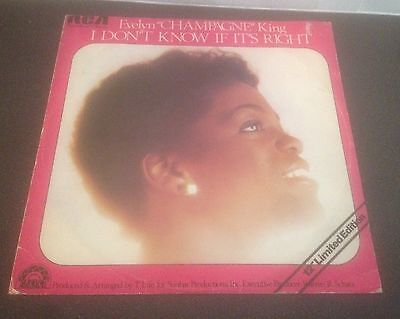 """Evelyn Champagne King - I Don't Know If Its Right 12"""" Inch Single Record Vinyl"""