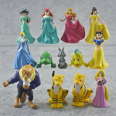 12pcs Beauty and the Beast Princess Belle Action Figure Kids Toys Cake Toppers