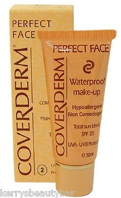 Coverderm Perfect Face Waterproof Make-Up - 30Ml -  Range Of Shades - £5.99 !!!