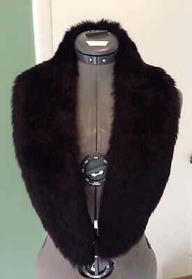 Faux Fur Collar Black 43""