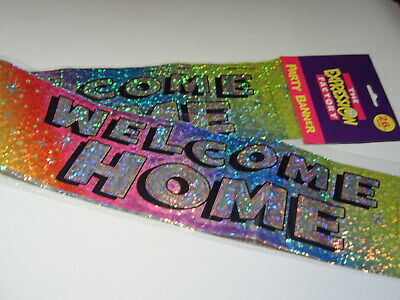 Welcome Home Party Banner 2.6m New Sealed