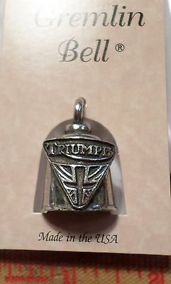 Triumph Gremlin bell lucky rider good luck motorcycle riding biker ride made USA