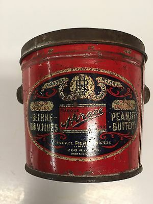 """Vintage"""" Horace Brand"""" Peanut Butter 16 oz. Pail with Lid and Bail"""