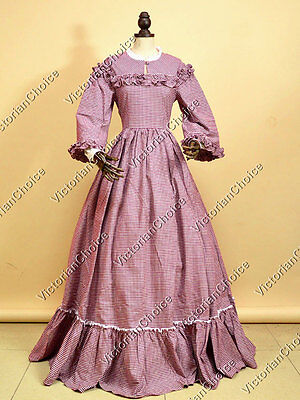 Victorian Civil War Peasant West Country Maiden Ghost Gown Halloween Costume 260