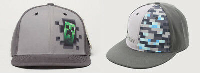Minecraft Diamond Creeper Jinx Snap-back Hat Baseball Cap Boys Teenagers / Adult