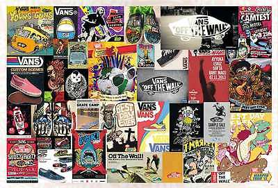 "33013 VANS OFF THE WALL POSTER 24""x36"" ADVERTISING GRAPHIC ART SIDE NEW SHEET"
