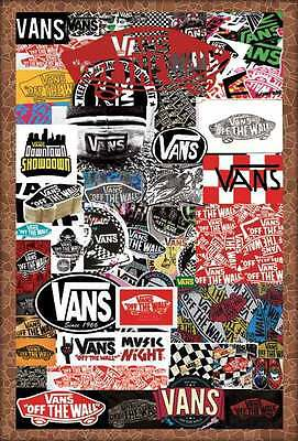 "O-7233 VANS OFF THE WALL POSTER 24""x36"" ADVERTISING GRAPHIC ART SIDE NEW SHEET"