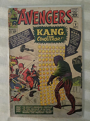 Avengers #8 1st Appearance of Kang The Conquer Marvel Comics Silver Age 1963