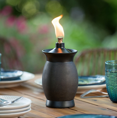 Garden Patio Table Torch Flame 4-in-1 Multi-Use Deck Pathlight Yard Light Stake