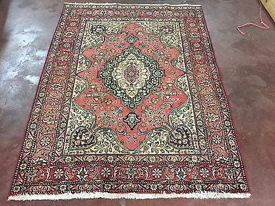 "Antique Great Hand Knotted Persian-Tabriz Rug Geometric Carpet 5x6,4'8""x6'3''"
