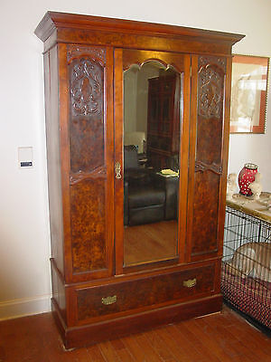 Stately & Ornate Antique Armoire -- Local Pickup Or Shipped By Your Arrangement